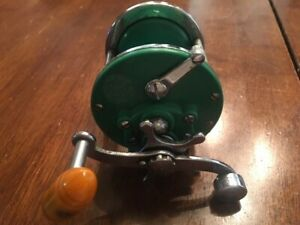 VINTAGE PENN MONOFIL NO.26 GREEN FISHING REEL MADE IN USA SALTWATER TACKLE