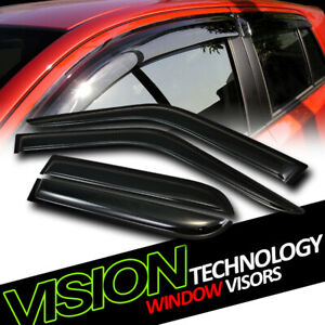 For 90-95 Toyota 4Runner Rain/Wind Guard Dark Vent Shade Deflector Window Visors
