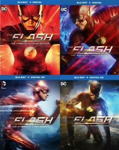 THE FLASH 2014 TV SERIES COMPLETE SEASONS 1 - 4 New Sealed Blu-ray 1 2 3 4