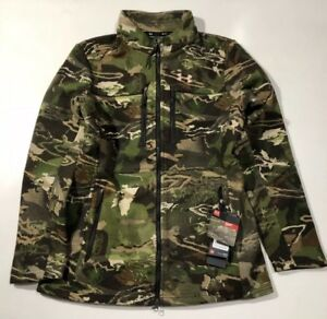 UNDER ARMOUR WOMEN'S SMALL MID SEASON WOOL CAMO FULL ZIP JACKET HUNT NWT