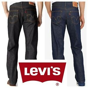 Levis 501 Original Shrink To Fit Button Fly Jeans Rigid Blue Black $44.99