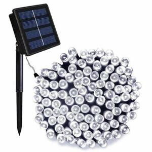 NEW ORA 100 LED Solar Powered String Lights with Automatic Sensor, Black, 55