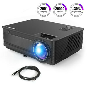 LED Smart Home Theater Projector Full HD 1080P 7000 Lumens 3D Video Movie USB