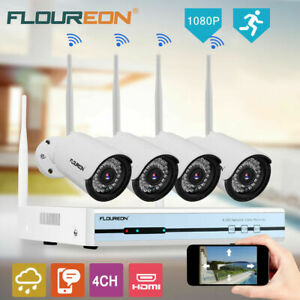 4CH 1080P NVR Wifi Wireless Surveillance Video Security Camera Recorder System