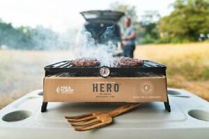 Hero Foldable Compact Charcoal Barbecue BBQ Grill Outdoor Camping Cooker