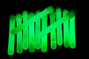 50ct DirectGlow 4 inch Green Glow Sticks with Lanyards 10-12+ Hour Glow