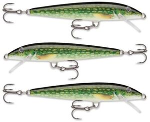 3 Rapala Original Floating - Live Pike F09 PKL Trout Pike Bass Perch Lures