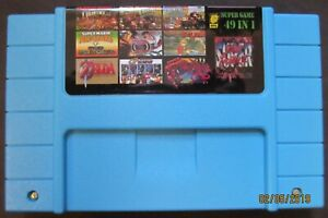 49 in 1 SNES Super Nintendo Multi Cart Game - Metroid Zelda Mario World Gundam!