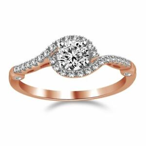 Elegant Swirl 0.50 Ct. Natural Diamond Engagement Bridal Wedding Ring