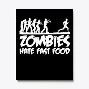 Zombies Hate Fast Food Funny Halloween Canvas Print