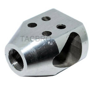 Stainless Steel 1 2x28 TPI Mini Tanker Style Muzzle Brake for 223