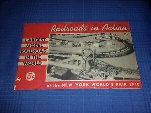 ANTIQUE 1940 WORLDS FAIR BROCHURE RAILROAD PAPER
