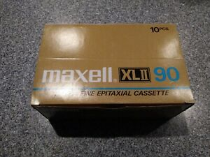 NOS 10-Maxell XLII 90 Blank Cassette Tapes-8 SEALED Made in Japan 4 EPITAXIAL