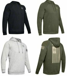 Under Armour 1352678 Men's UA Freedom Flag Rival Long Sleeve Tactical Hoodie $45.99