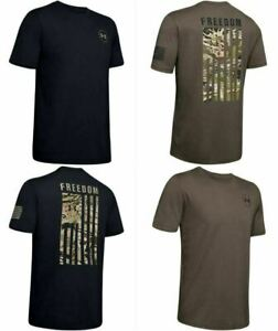 Under Armour 1343564 Men's UA Freedom Flag Camo Hunting Short Sleeve T Shirt $23.99