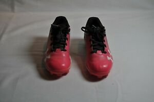 UNDER ARMOUR Baseball  Softball Cleats Girls 13k Black Pink Shoes