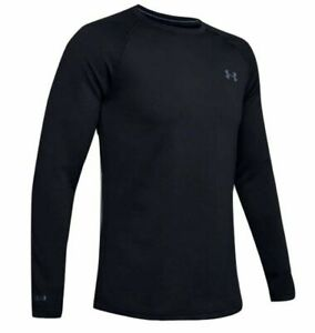 Under Armour 1353349 Mens UA ColdGear Base 4.0 Top Baselayer Crew Shirt Black $70.99