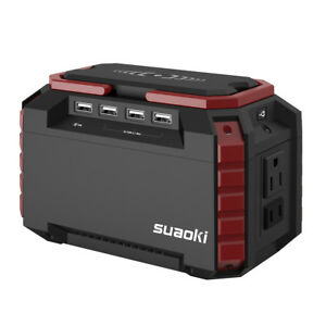Suaoki Portable Power Source Charging Station 150Wh Solar Generator Supply US