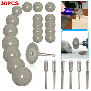 30 Diamond Cutting Wheels For Dremel Rotary Tool die grinder metal Cut Off Disc
