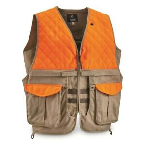 Guide Gear Mens Upland Vest Hunting with Safety Pocket Multiple Size