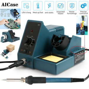 AICase 60W Soldering Iron Station LED Temperature Adjustable ESD Safe W/ On-Off