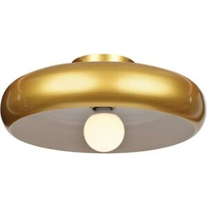 Access Lighting Bistro Small Flush Mount, Gold and White - 23880LEDDLP-GLD-WHT