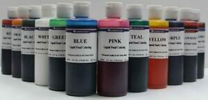 LorAnn Liquid Food Coloring U Pick from 12 Different Colors Frosting Baking 4 OZ