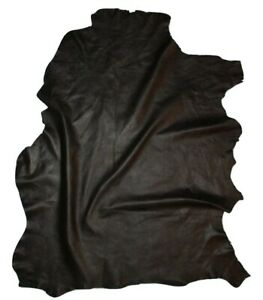 Small Black Smooth Grain Sheepskin Leather Hide Soft 2.5 oz Sheep Skin