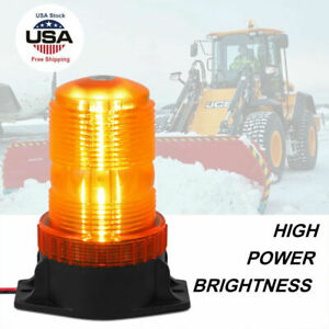 30 LED Emergency Warning Strobe Light 12V Rotating Beacon Amber Forklift Truck
