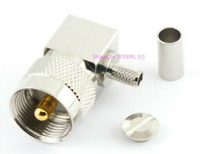 UHF Male PL 259 Right Angle Coax Connector RG 58 LMR 195 USA Seller by W5SWL $4.19