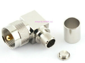 UHF Male PL 259 Right Angle Coax Connector RG 8 LMR 400 USA Seller by W5SWL $5.29