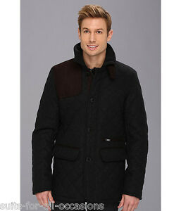 MEN'S VINCE CAMUTO WOOL LUXE QUILTED COAT SIZE 38 40 42 SMALL MEDIUM LARGE BB202