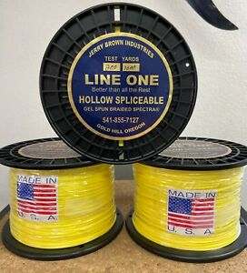 Jerry Brown Line One Hollow Core Sliceable Spectra 200lbx1000 yards Hi-VizYellow