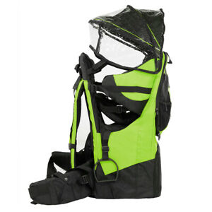 Deluxe Adjustable Baby Carrier Outdoor Light Hiking Child Backpack Camping Green