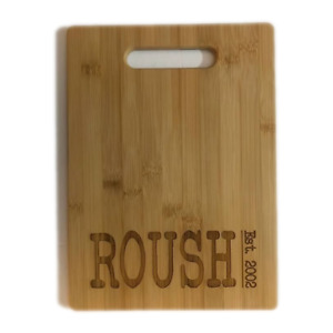 Bamboo Cutting Board Wedding Gift Personalized Custom NAME Family Engraved Wood