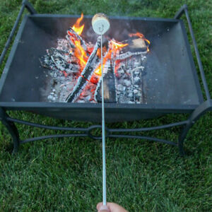 8 Pcs Telescopic Roasting Marshmallow Barbecue BBQ Sticks Skewers Fork Pouch
