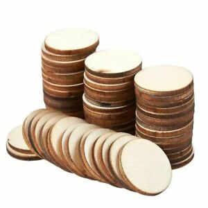 60 Pcs Unfinished Wood Slices Round Natural Rustic Wooden Circles for DIY 1quot; $10.99