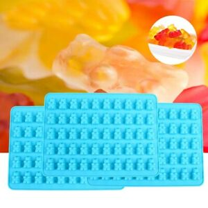 New Ice Candy Gummy Mold Bear Chocolate Make 50 Cavity Silicone Novelty Tray