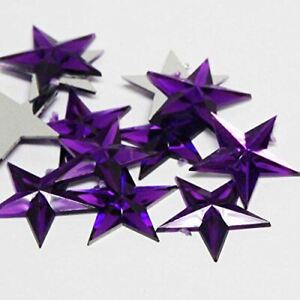 Factory Direct Craft Purple Flat Back Star Rhinestones | 24 Packages