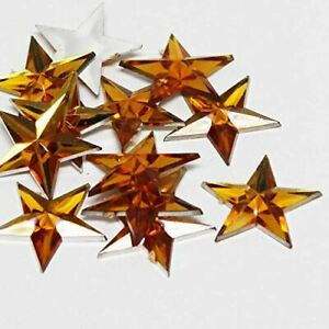 Factory Direct Craft Gold Flat Back Star Rhinestones | 24 Packages