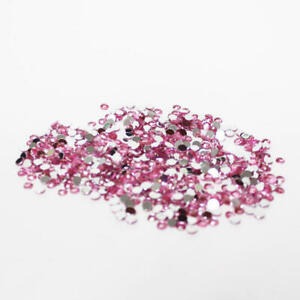 Factory Direct Craft Pink Flat Back Faceted Round Rhinestones | 14400 Pieces