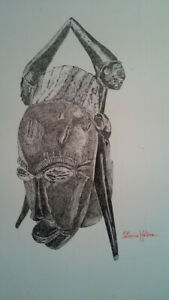 PEN AND INK ORIGINAL DRAWINGS BY CATHERINE HELENE $450.00