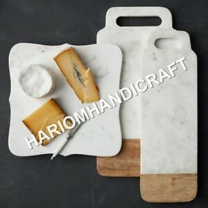 Set Of three Different shapes White Marble Handmade Decorative Gifts  E711