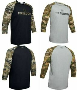 Under Armour 1343541 Men's UA Freedom Camo Utility 3 4 Length Long Sleeve Shirt $27.99