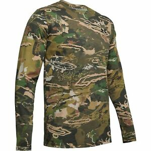Under Armour 1343241 Men's UA Scent Control Camo Long Sleeve Shirt, Forest Camo $28.99
