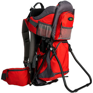 ClevrPlus Canyonero Baby Backpack Kid Toddler Camping Hiking Child Carrier Red