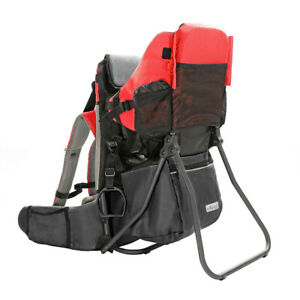 ClevrPlus Baby Toddler Backpack Camping Hiking Child Kid Carrier Shade Visor Red