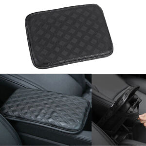 Car Pu Leather Armrest Pad Cover Center Console Soft Pad Cushion Universal Black $11.59