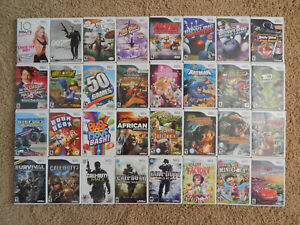 Nintendo Wii Games You Choose from Large Selection $7.95 Each