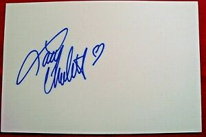 LACEY CHABERT SIGNED 5X7 INDEX CARD MOVIE TV STAR AUTOGRAPH PARTY OF 5 HALLMARK